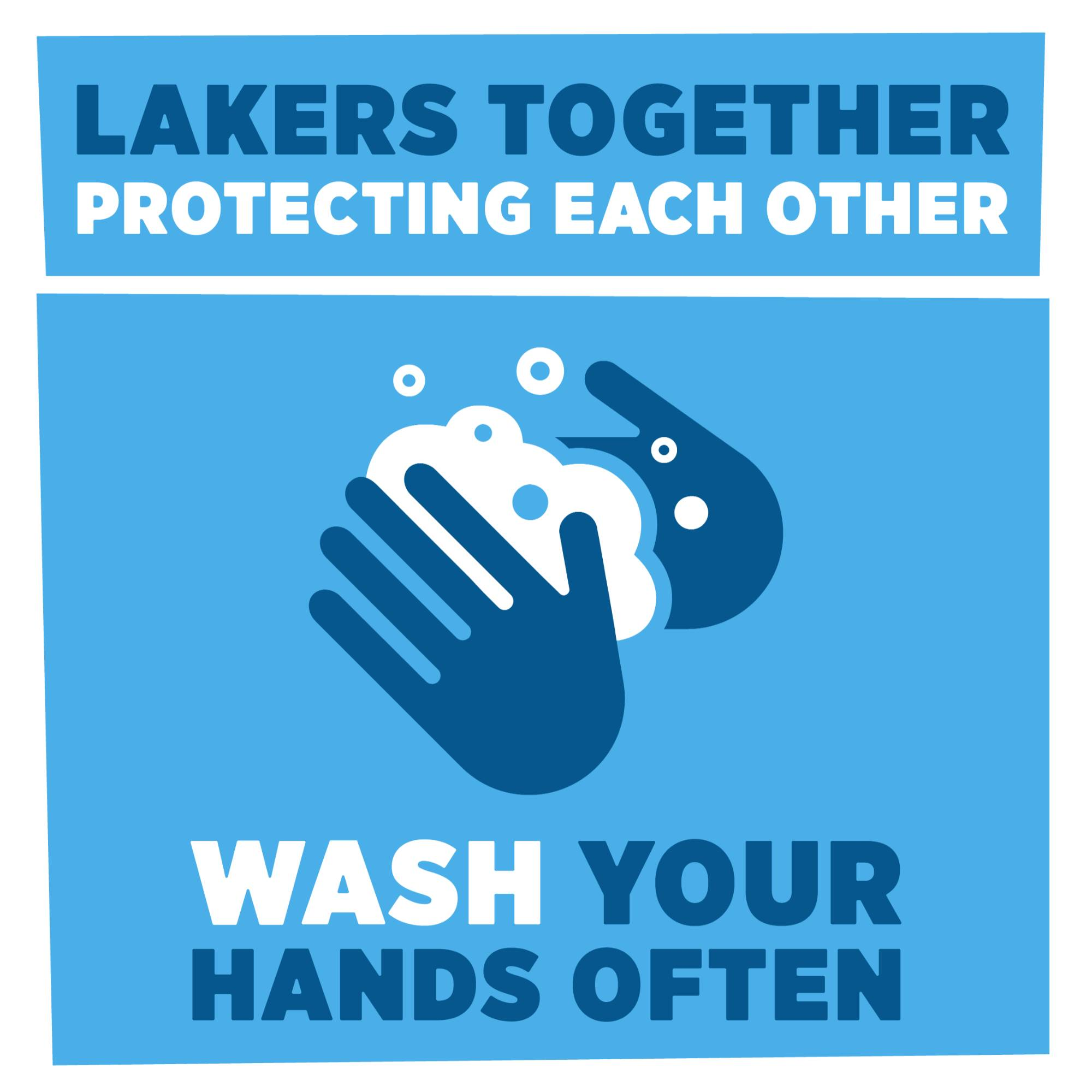 A graphic that says wash your hands often.